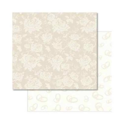 Carta da Scrap Glitterata Matrimonio - Wedding mot35 - 1