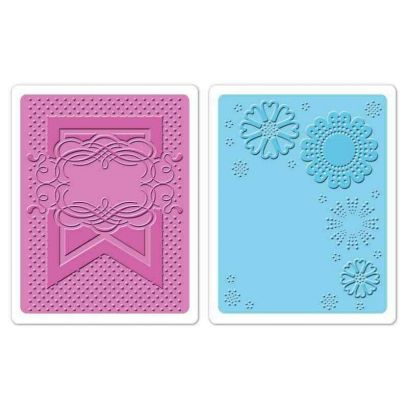 Fustella da Embossing - Banner & Flowers Set - 1
