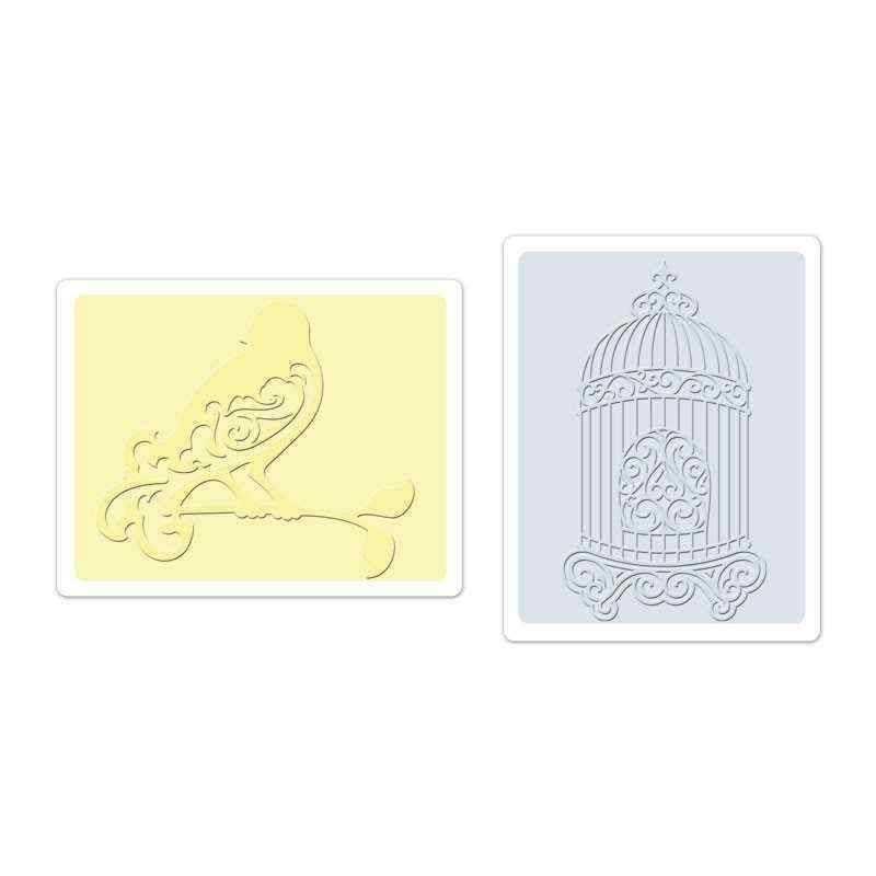 Fustella da Embossing - Bird & Birdcage Set - 1