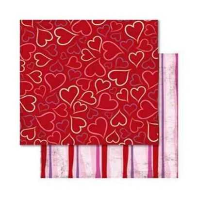 Carta da Scrap Cuori  - Liebe mot26 - 1