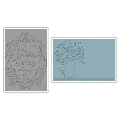 Fustella da Embossing - Flowers & Perfume Label Set - 1