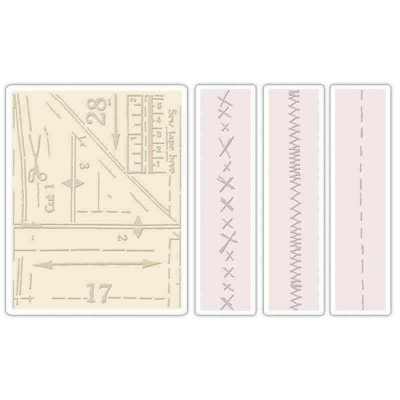 Fustella da Embossing - Pattern & Stitches Set - 1