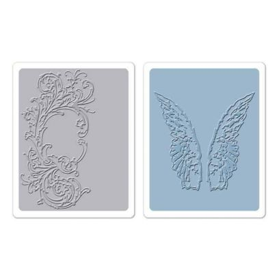 Fustella da Embossing - Flourish & Wings Set - 1