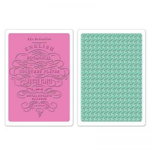 Fustella da Embossing - English Botanical & Houndstooth Set - 1