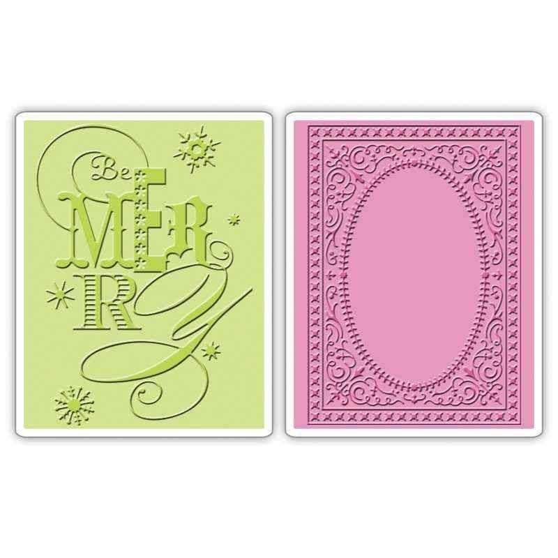 Fustella da Embossing - Be Merry Set