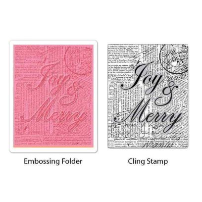 Fustella da Embossing - Joy & Merry Set