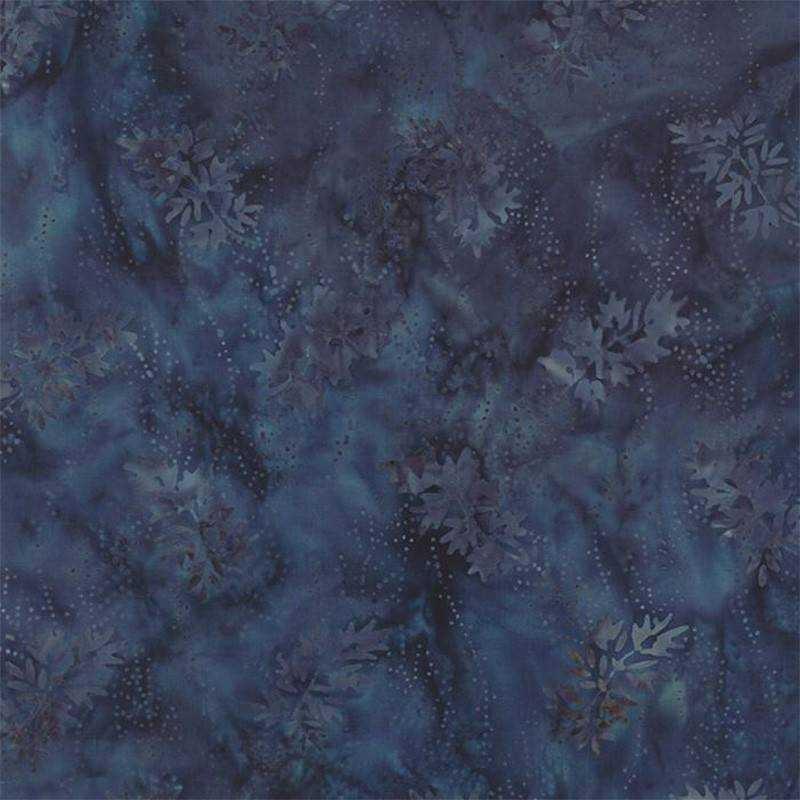 Tessuto in cotone Batik - Blue Barn Batiks - Indigo Snow Angels 42279 12