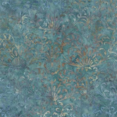 Tessuto Batik - Blue Barn Batiks Twilight Blue - 1