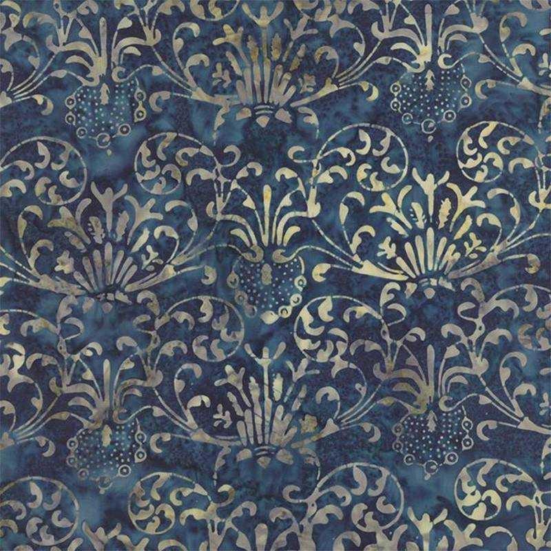 Tessuto Batik - Blue Barn Batiks Midnight Vintage 42279 48 - 1