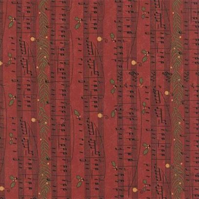 Tessuto Natale - Delightful December Music Berry 17872 11 - 1