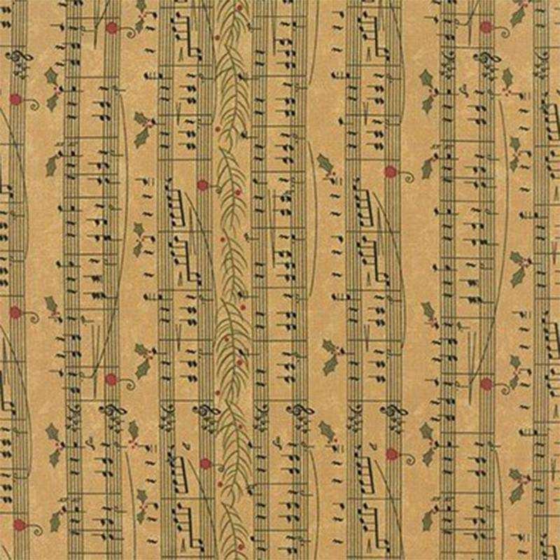 Tessuto Natale - Delightful December Eggnog Music 17872 13 - 1