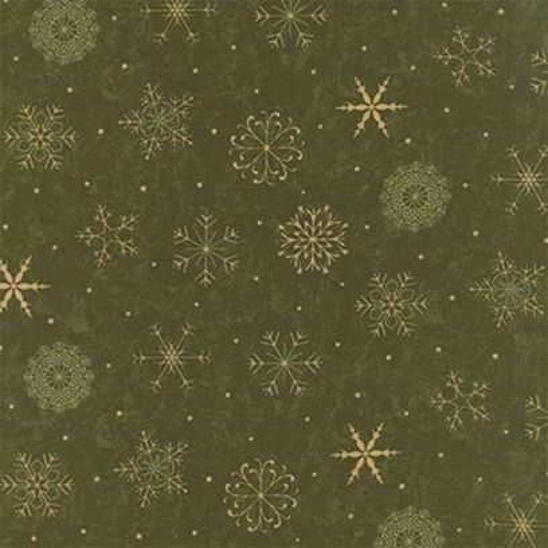 Tessuto Natale - Delightful December Snowflake Pine 17873 12 - 1