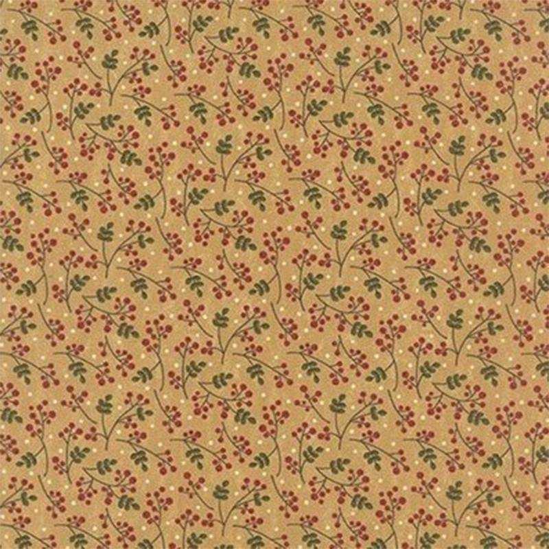 Tessuto Natale - Delightful December Eggnog Berry 17875 13 - 1