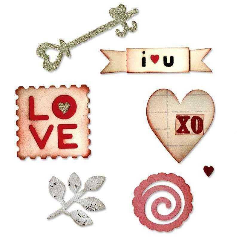 Fustella Cuori - Sizzlits Hearts & More Set - 1