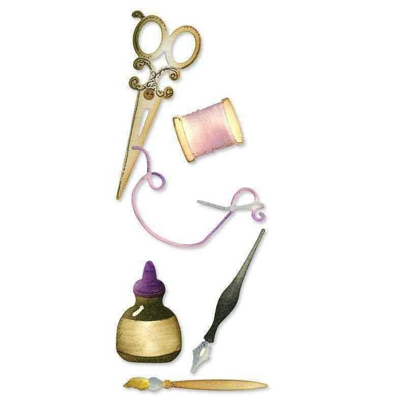 Fustella Cucito e Scrittura - Sizzlits Sewing & Writing Set - 1