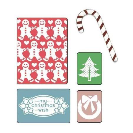 Fustella Auguri  Natale - Embossing My Christmas Wish Set - 1