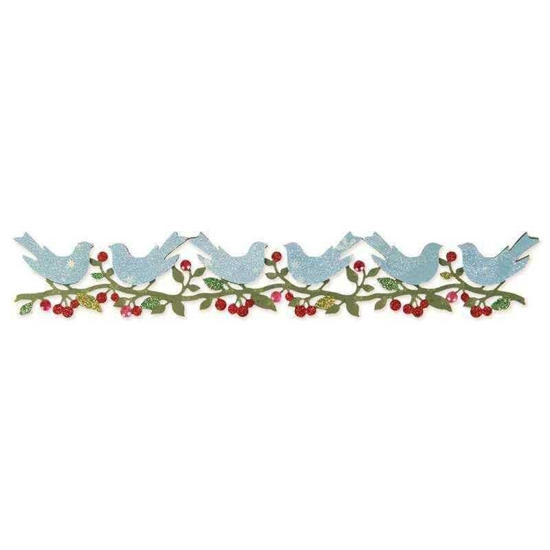 Fustella Bordo con Uccelli - Sizzlits Bower Birds - 1