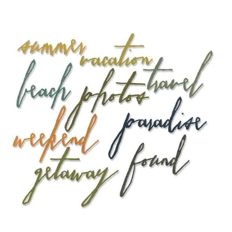 Fustella Scritte Tema Vacanze - Thinlits Handwritten Vacation - 1