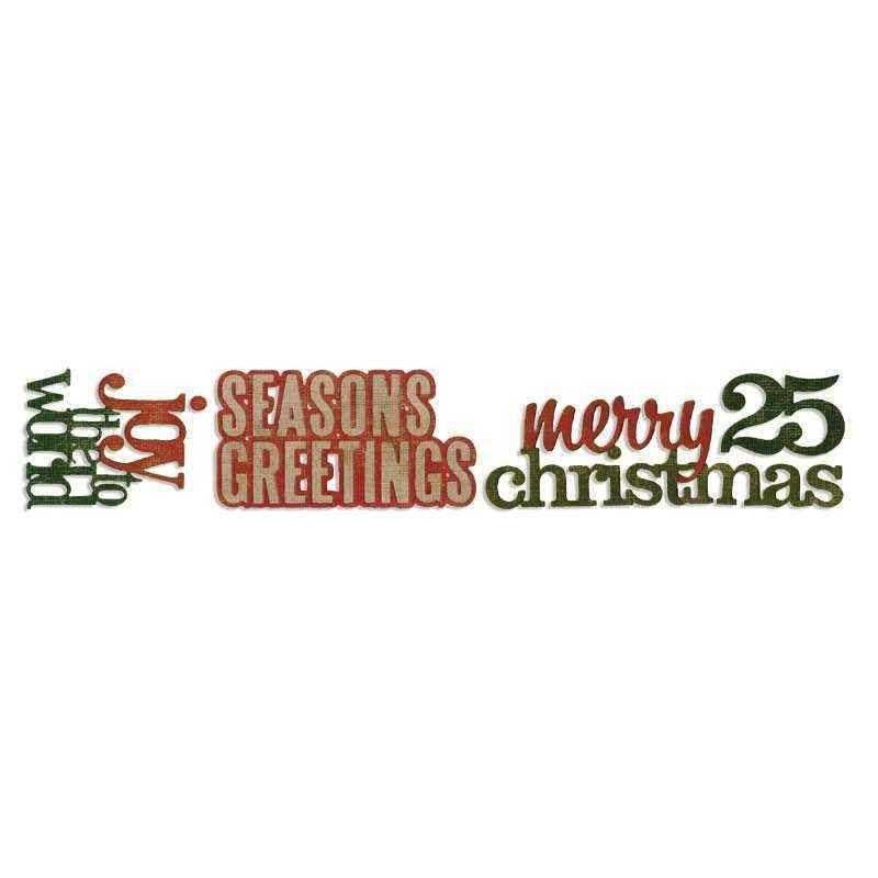 Fustella Frasi Natale - Sizzlits Stacked Words: Christmas - 1