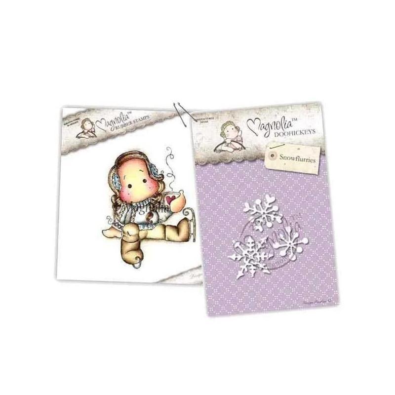Timbro e Fustella Magnolia - Cocoa Tilda & Snowflurries - 1