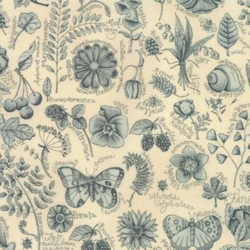 Tessuto Shabby – Garden Note 6090 15 - 1