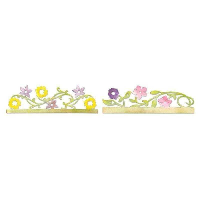 Fustella Bordi con Fiori - Sizzlits Card Edges  Flower - 1