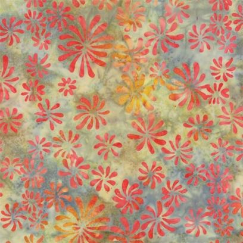 Tessuto Batik - Pumpkin Pie Painted Daisy Squas 42289 200 - 1