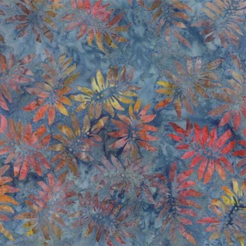 Tessuto Batik - Pumpkin Pie Sunflower Blue Moon 42289 202 - 1