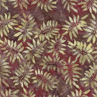 Tessuto Batik - Pumpkin Pie Sunflower Cranberry 42289 203 - 1