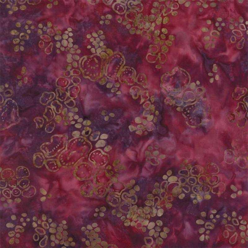 Tessuto Batik - Pumpkin Pie Pebbles Crimson 42289 204 - 1