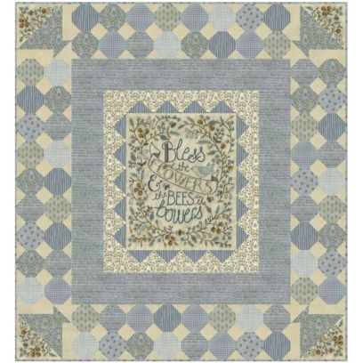 Pattern per Patchwork - Bees in the Bowers di Kathy Schmitz - 1