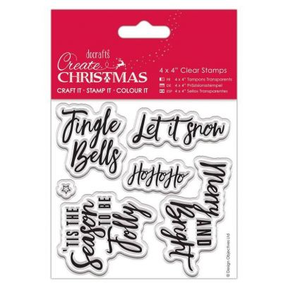 Timbri Natale – Clear Stamps Docrafts – Contemporary Sentiments - 1