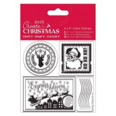 Timbri Natale – Clear Stamps Docrafts – Postage Marks - 1