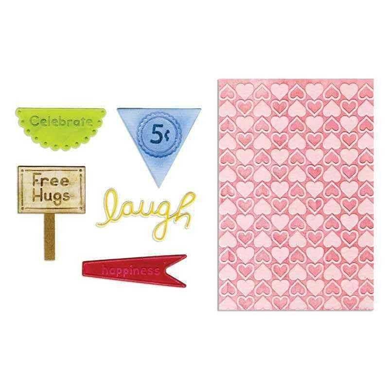 Fustella Etichette e Cuori - Framelits Happy Hearts Set - 1