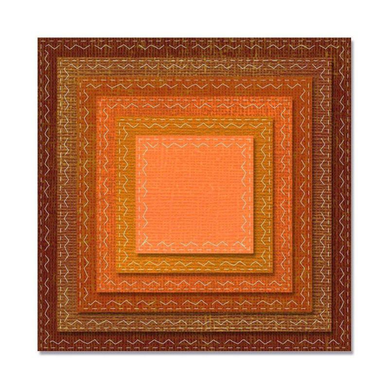 Fustella Quadrati con Cuciture- Thinlits Stitched Squares - 1