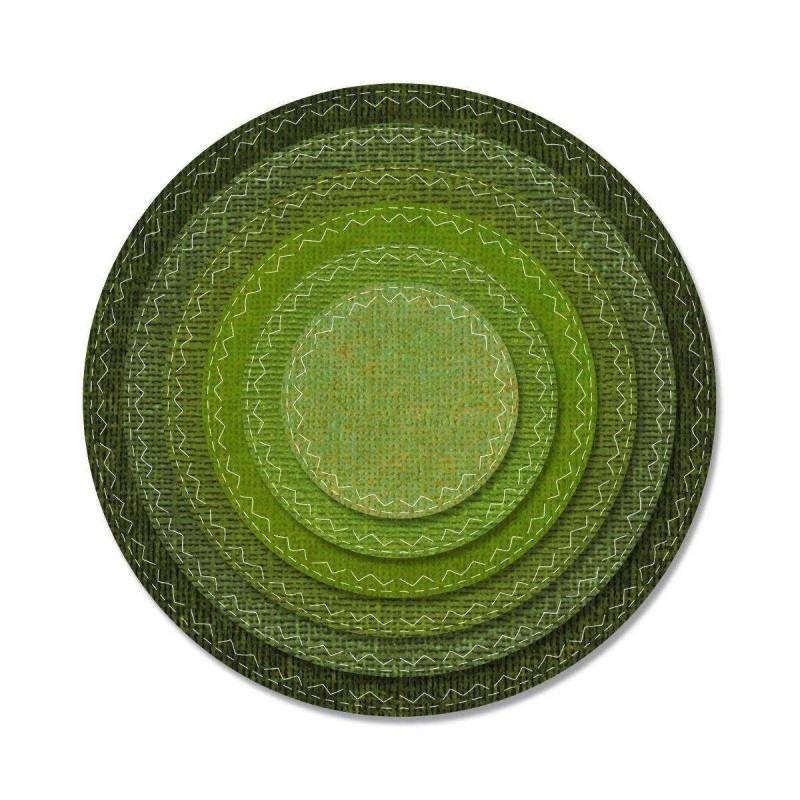 Fustella Cerchi con Cuciture - Thinlits Stitched Circles - 1