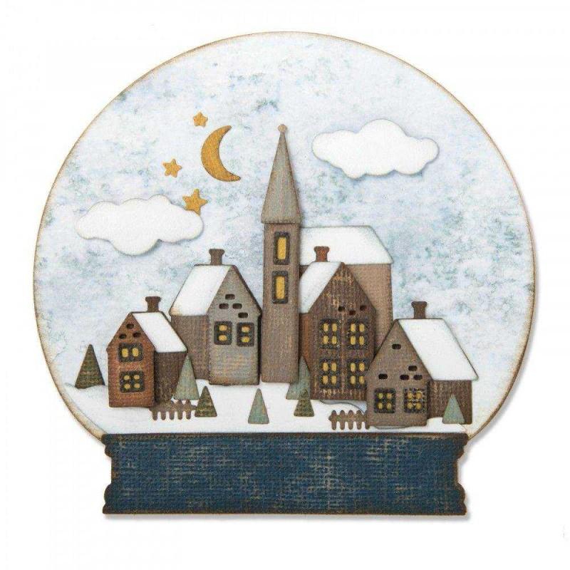 Fustella Palla di vetro - Thinlits Snowglobe 2 - 1