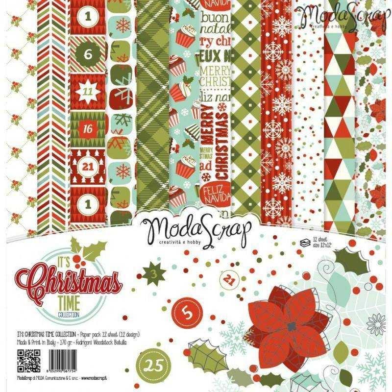 "Carte Moda Scrap 12""x12"" – It's Christmas Time - 1"