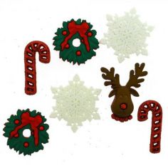 Bottoncini Decorativi - Dress It Up - Deck the Halls - 1
