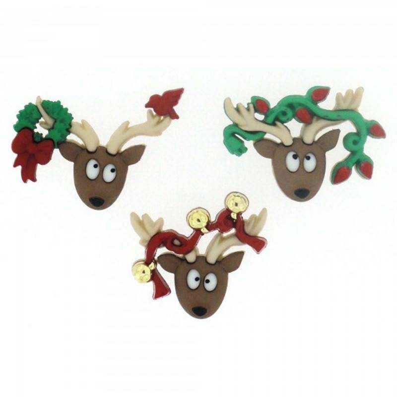 Bottoncini Decorativi - Dress It Up - Oh Deer - 1