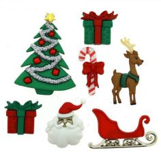 Bottoncini Decorativi - Dress It Up - Christmas Eve - 1