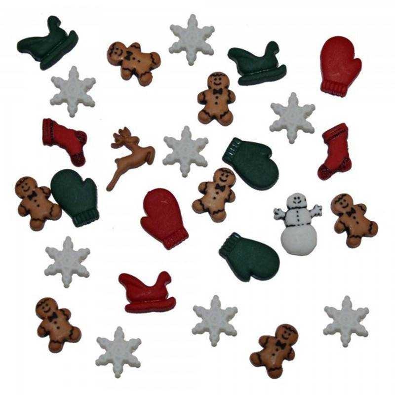 Bottoncini Decorativi - Dress It Up - Christmas Miniatures - 1