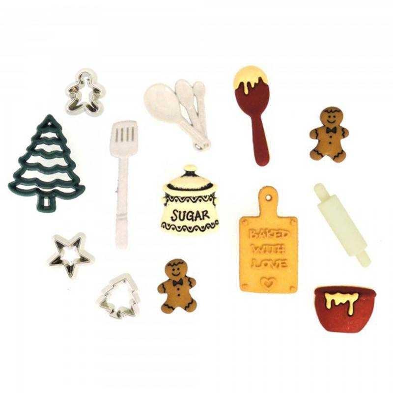 Bottoncini Decorativi - Dress It Up - Christmas Cookies - 1