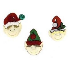 Bottoncini Decorativi - Dress It Up - Holiday Elves - 1