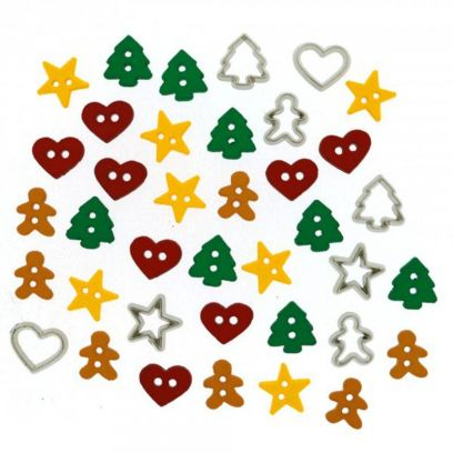 Bottoncini Decorativi - Dress It Up - Itty Bitty Cut Out Cookies - 1