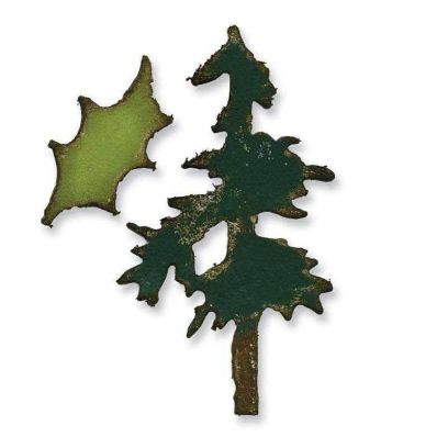 Fustella Alberi di Natale - Movers & Shapers Mini Pine Tree & Holly Set - 1