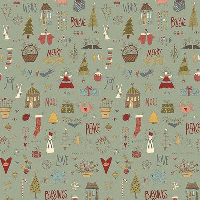 "Tessuto Natale ""Celebrating Xmas"" - 4790-383 - 1"