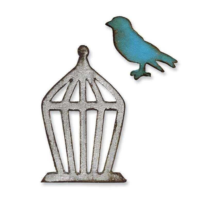 Fustella Uccello e Gabbia - Movers & Shapers Mini Bird & Cage Set - 1