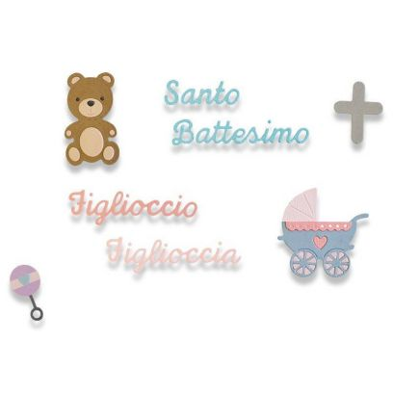 Fustella Battesimo - Thinlits Baptism - 1