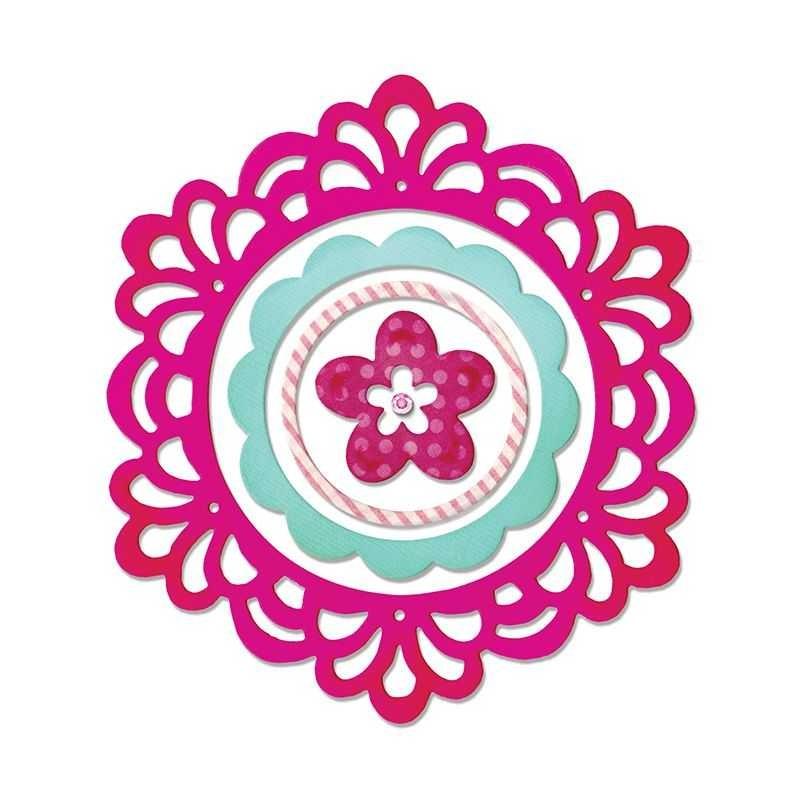 Fustella Centrino Thinlits Frame Layers & Flower 2